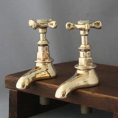 Antique Twyfords Brass Basin Taps
