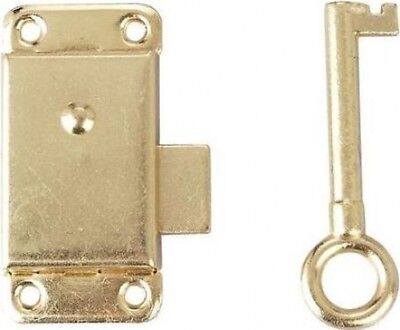 Basic Cupboard Lock 50mm Brass Plated (Pack of 1)