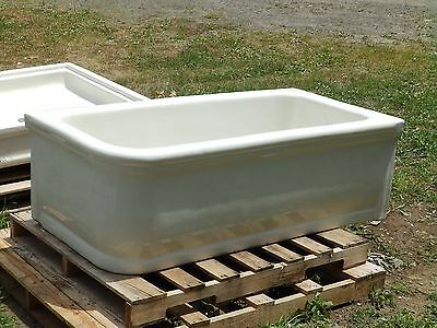 Antique Rare Earthenware Skirted Bathtub White Porcelain JL Mott Old Vtg 1006-16