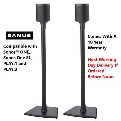 1 x SANUS WSS2 Black Stand Designed for SONOS PLAY:1 & PLAY:3 Speakers