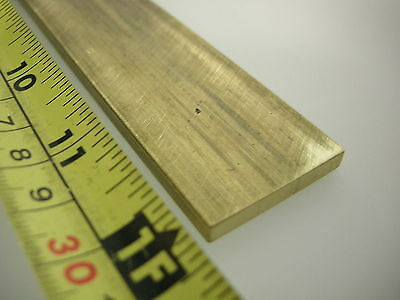 """360 ENGRAVERS BRASS 3/16x1-1/4x12"""" FLAT PLATE STOCK FOR CNC MILLING MACHINE SHOP"""