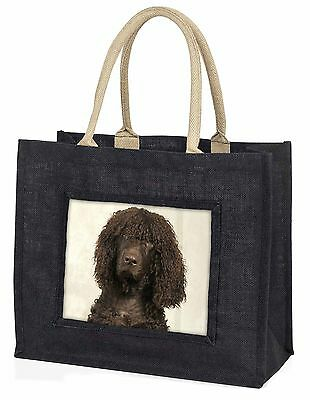 Irish Water Spaniel Dog Large Black Shopping Bag Christmas Present Id, AD-IWSBLB