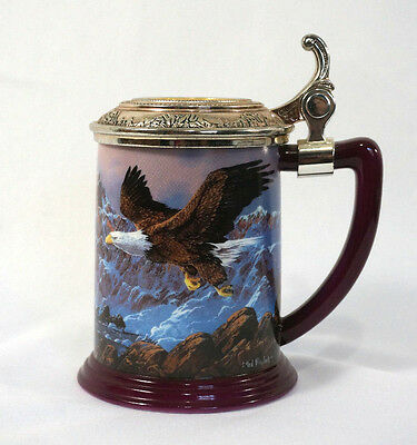 Eagles of the Majestic Mountain Tankard Beer Stein Mug Franklin Mint