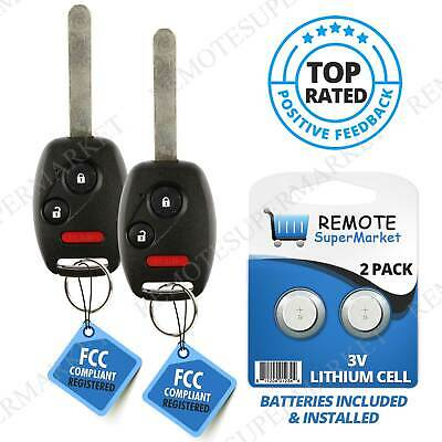 Replacement for 2006 2007 2008 2009 2010 2011 Honda Civic Lx Remote Key Fob (2)