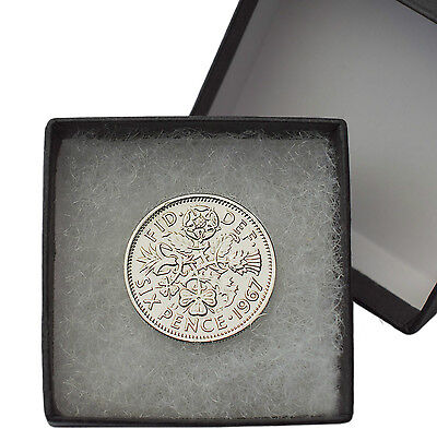 Polished Sixpences Boxed Choice Of Year 1928-1967 Birthday Coins