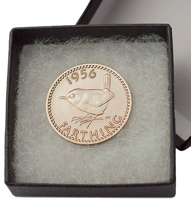 Boxed Highly Polished Farthings Birthday Coin Choice Of Date 1911-1956 Free Post