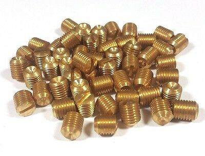 ~~~ 12 New Brass Set Screws Metric 7 Pitch 1.0 Door Knob M7 HTF Antique Doorknob