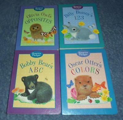 COMPLETE set of 4 Maurice Pledger board books: Otter/Owl/Bunny+