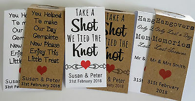 Personalised Miniature Bottle Label Tags - Wedding Favours / Party Favours