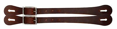 MEDIUM OIL Adult Size Leather Economy Western Spur Straps! NEW HORSE TACK!