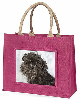 Affenpinscher Dog Large Pink Shopping Bag Christmas Present Idea, AD-AP1BLP