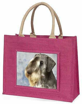 Cesky Terrier Dog Large Pink Shopping Bag Christmas Present Idea, AD-CZ1BLP