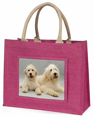 Labradoodle Dog Large Pink Shopping Bag Christmas Present Idea, AD-LD1BLP
