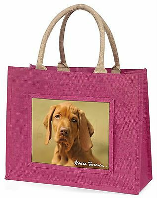 Hungarian Visla 'Yours Forever' Large Pink Shopping Bag Christmas Pre, AD-V2yBLP