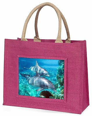 Dolphins Large Pink Shopping Bag Christmas Present Idea, AF-D3BLP