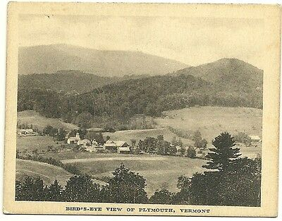 Birds Eye View Plymouth Vermont President Calvin Coolidge Hometown