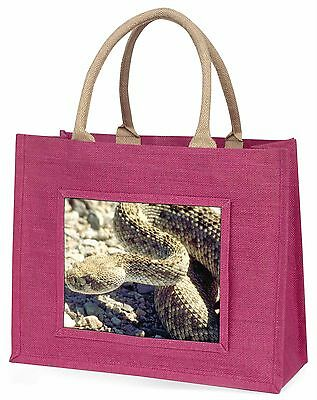 Rattle Snake Large Pink Shopping Bag Christmas Present Idea, AR-S2BLP