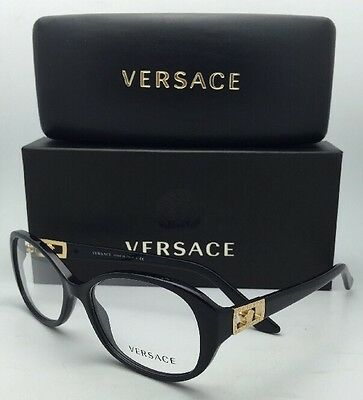 2567a49a33db NEW VERSACE RX-ABLE Eyeglasses VE 3249 GB1 54-16 Black   Gold Frames ...