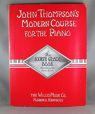 John Thompson's Modern Course For The Piano Fourth Grade Book-Brand New
