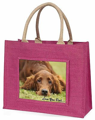 Red Setter Dpg 'Love You Dad' Large Pink Shopping Bag Christmas Prese, DAD-93BLP