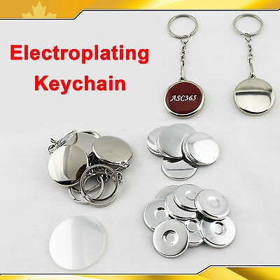 "1"" 1-1/4"" 1-1/2"" Electroplating Keychain Mirror Button Badge Maker DIY"