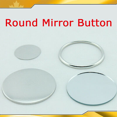 """7 sizes Mirror Button Parts Material for Maker Machine  2-3/4"""" 2-3/4""""  015723"""