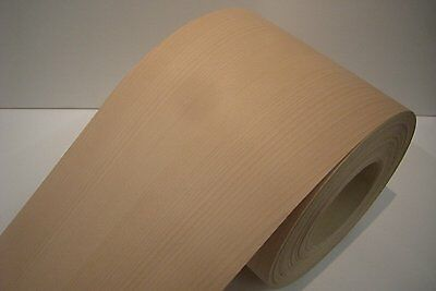 Real wood Veneer Beech steamed with Hot melt adhesive iron-on 30 cm Wide