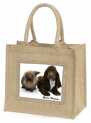 Animals 'Yours Forever' Sentiment Large Natural Jute Shopping Bag Ch, AD-SC2yBLN