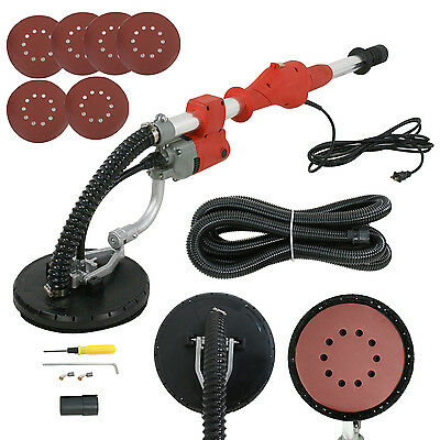 Electric Variable Speed Drywall Vacuum Sander with Telescopic Handle & 14FT Hose