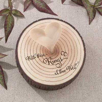 I Thee Wed  Wedding Day - Resin Tree Trunk  Rustic Ring  Pillow Cushion Holder