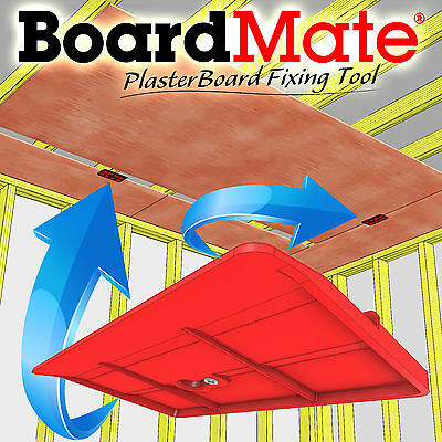BoardMate - Drywall Fitting Tool, Supports the board in place while fixing.
