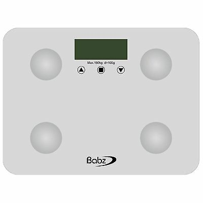 White Digital Display Electronic Bmi Calorie Body Fat Bathroom Weighing Scale