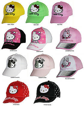 Official Licensed Girls Hello Kitty Pink Floral Grey Baseball Cap Hat 7-10 Years