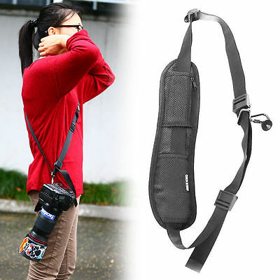 Black Quick Camera Neck Shoulder Strap Belt Sling for Canon Nikon Sony Olympus