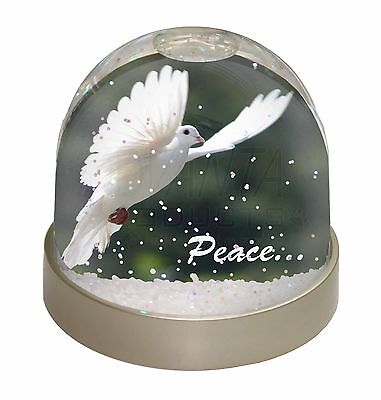 White 'Peace' Dove Photo Snow Dome Waterball Stocking Filler Gift, AB-D4GL