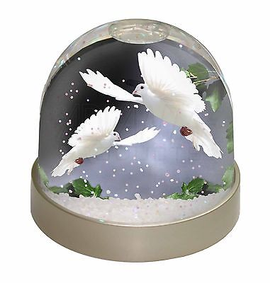Two Beautiful White Doves Snow Dome Photo Globe Waterball Animal Gift, AB-D5GL
