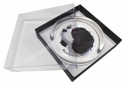 Tri-Col King Charles-With Love Glass Paperweight in Gift Box Christm, AD-SKC6uPW