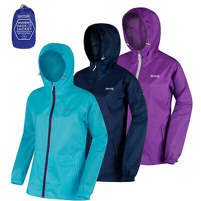 Regatta Womens / Ladies Waterproof Lightweight PACK IT Jacket New Colours