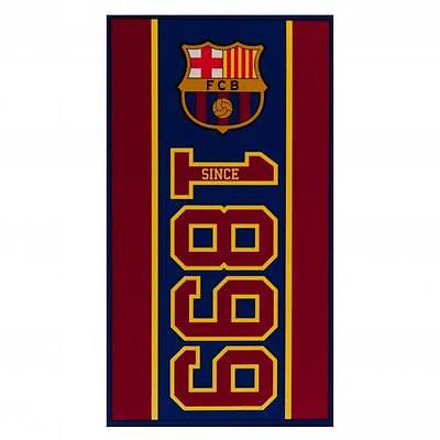 Official Licensed Football Product FC Barcelona Towel EST Bath Shower Gift New