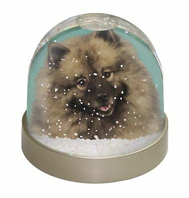 Keeshond Dog Photo Snow Dome Waterball Stocking Filler Gift, AD-KEE1GL