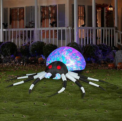 Halloween Inflatable 8'  Projection Kaleidoscope Spider Yard Airblown By Gemmy