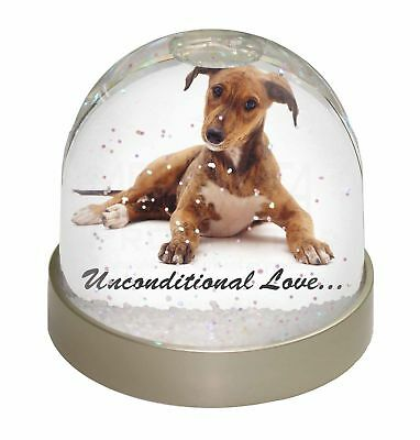 Lurcher Dog-With Love Photo Snow Dome Waterball Stocking Filler Gift, AD-LU2uGL