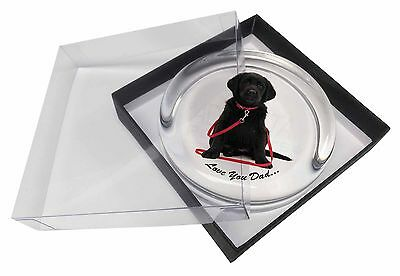 Goldador Dog 'Love You Dad' Glass Paperweight in Gift Box Christmas Pr, DAD-69PW