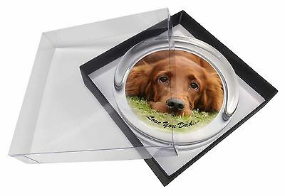 Red Setter Dpg 'Love You Dad' Glass Paperweight in Gift Box Christmas , DAD-93PW