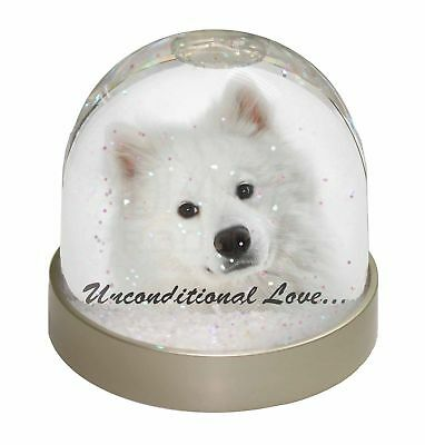 Samoyed Dog with Love Photo Snow Dome Waterball Stocking Filler Gift, AD-SO73uGL