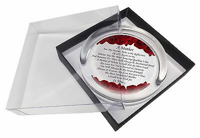 Mothers Day Poem Sentiment Glass Paperweight in Gift Box Christmas Pres, MUM-2PW