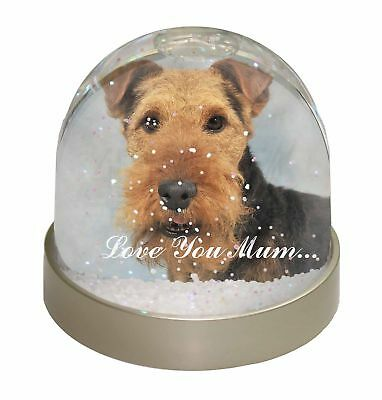 Welsh Terrier Dog 'Love You Mum' Photo Snow Dome Waterball Stocking, AD-WT1lymGL