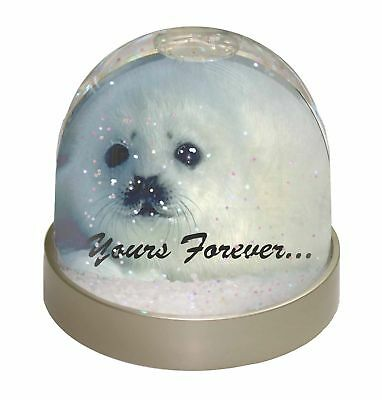 Snow Seal 'Yours Forever' Photo Snow Dome Waterball Stocking Filler Gi, AF-S14GL