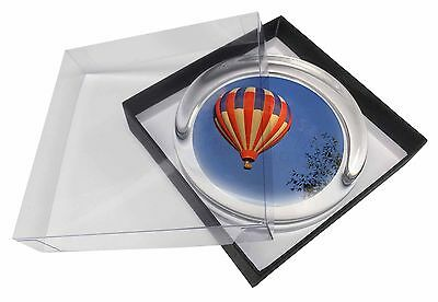 Hot Air Balloon Glass Paperweight in Gift Box Christmas Present, SPO-B1PW