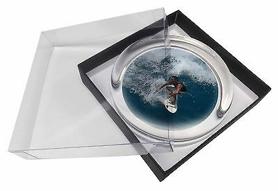 Surf Board Surfing - Water Sports Glass Paperweight in Gift Box Christ, SPO-S3PW